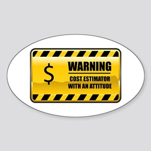 Warning Cost Estimator Oval Sticker