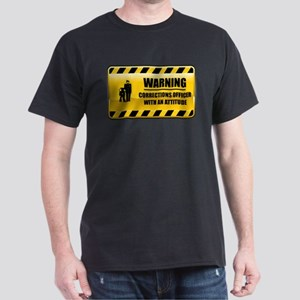 Warning Corrections Officer Dark T-Shirt