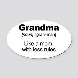 Grandmas Rule! Oval Car Magnet