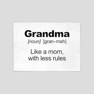 Grandmas Rule! 5'x7'Area Rug