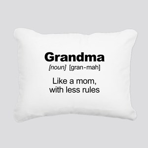 Grandmas Rule! Rectangular Canvas Pillow