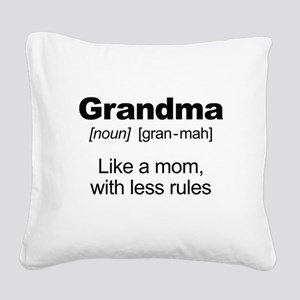 Grandmas Rule! Square Canvas Pillow