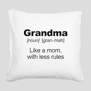 Grandmas Rule! Square Canvas Pillow