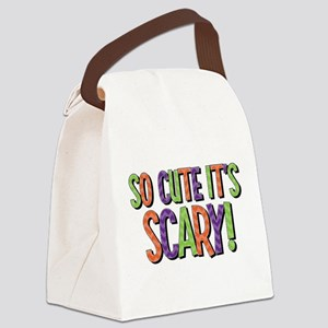 So Cute It's Scary Canvas Lunch Bag