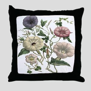Morning Glory Art Throw Pillow
