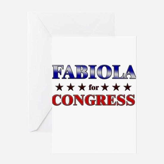 FABIOLA for congress Greeting Card