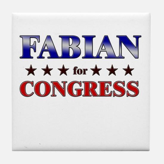 FABIAN for congress Tile Coaster