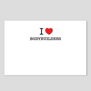 I Love BODYBUILDERS Postcards (Package of 8)