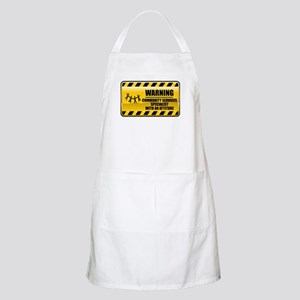 Warning Community Services Specialist BBQ Apron