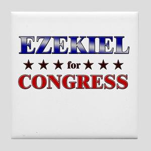 EZEKIEL for congress Tile Coaster