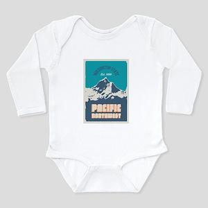 Pacific Northwest. Long Sleeve Infant Bodysuit