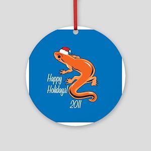 Newt Happy Holidays! Round Ornament