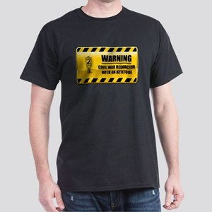 Warning Civil War Reenactor Dark T-Shirt