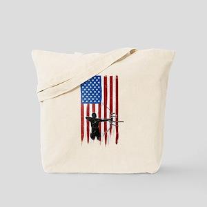 USA Flag Team Archery Tote Bag