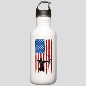USA Flag Team Archery Stainless Water Bottle 1.0L