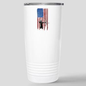 USA Flag Team Archery Ceramic Travel Mug