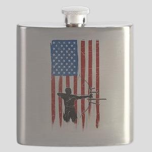USA Flag Team Archery Flask