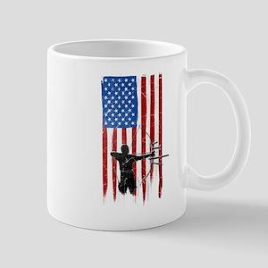 USA Flag Team Archery Mug