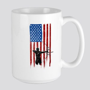 USA Flag Team Archery Large Mug