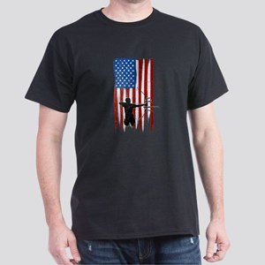 USA Flag Team Archery Dark T-Shirt