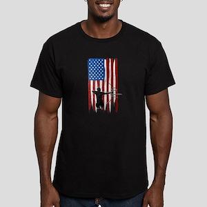 USA Flag Team Archery Men's Dark Fitted T-Shirt