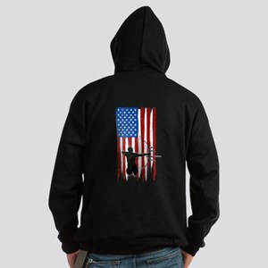 USA Flag Team Archery Dark Hoodie