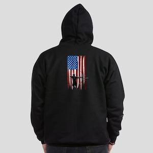 USA Flag Team Archery Dark Zip Hoodie