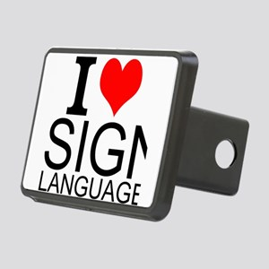 I Love Sign Language Hitch Cover
