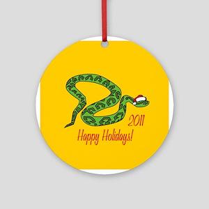 Urutu Happy Holidays! Round Ornament