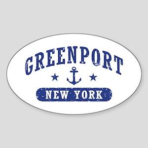 Greenport New York Sticker (Oval)