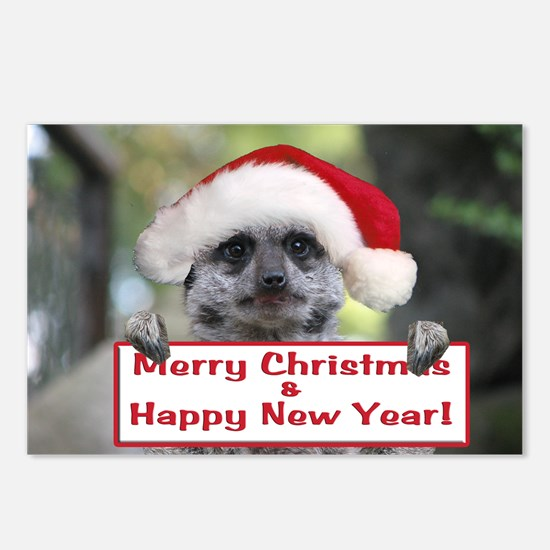 Helaine's Christmas Meerk Postcards (Package of 8)