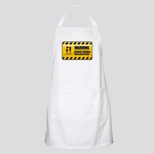 Warning Chemical Engineer BBQ Apron