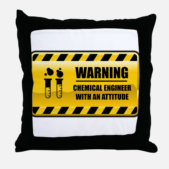 Warning Chemical Engineer Throw Pillow