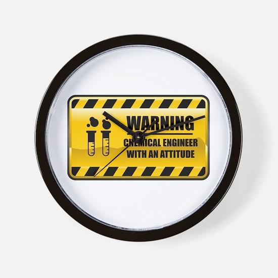 Warning Chemical Engineer Wall Clock