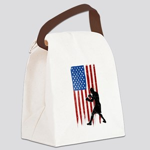 USA Flag Team Boxing Canvas Lunch Bag