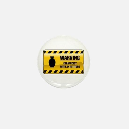 Warning Ceramicist Mini Button