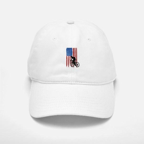 USA Flag Team Cycling Baseball Baseball Cap