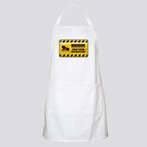 Warning Cement Person BBQ Apron
