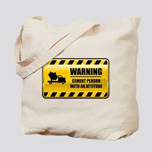 Warning Cement Person Tote Bag