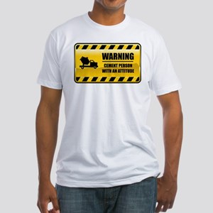 Warning Cement Person Fitted T-Shirt