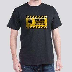 Warning Cave Explorer Dark T-Shirt