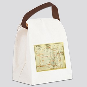 Vintage Map of Thebes Egypt (1894 Canvas Lunch Bag