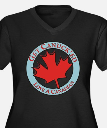 Get Canucked / Women's Plus Size V-Neck Dark T-Shi