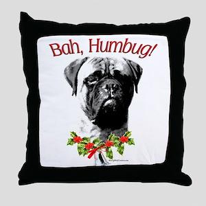 Bullmastiff Humbug Throw Pillow