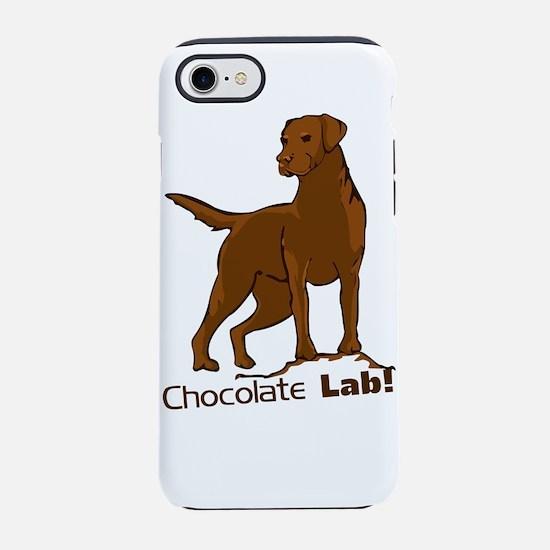 chocolate lab! iPhone 8/7 Tough Case