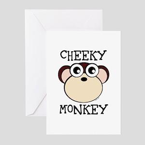 Cheeky monkey greeting cards cafepress cheeky monkey greeting cards pk of 10 m4hsunfo