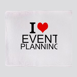 I Love Event Planning Throw Blanket