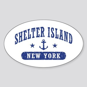 Shelter Island NY Sticker (Oval)