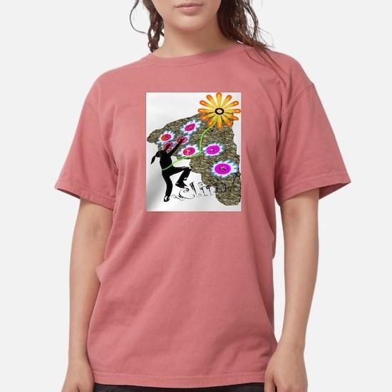 Young Girl Flower Climber Kids T-Shirt