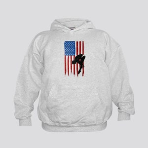 USA Flag Team Diving Kid's Hoodie